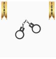 handcuffs flat icon vector image