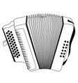 isolated accordion outline vector image
