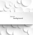 Paper banner on circle background vector image