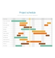 Project schedule chart overview planning timeline vector image