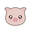 pig kawaii cute animal icon vector image