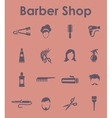 Set of barber shop simple icons vector image