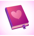 Book Valentines vector image