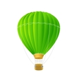 green air ballon isolated on white vector image