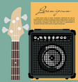 guitar and speaker vector image