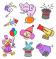 doodle element circus colorful style vector image