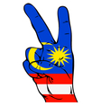 Peace Sign of the Malaysian flag vector image