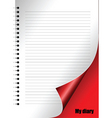 Diary page vector image