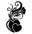 Valentine day floral design element vector image vector image