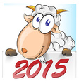 goat cartoon with vector image