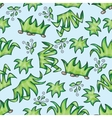 seamless pattern with grass vector image