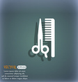 hair icon symbol on the blue-green abstract vector image