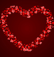 hearts frame vector image vector image