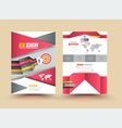 Template Cover with pieces of colored paper triang vector image