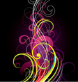 colorful spiral background vector image vector image