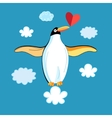 Funny penguins in love vector image