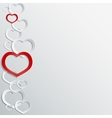 Abstract 3D paper hearts background with place for vector image