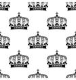Black royal crown seamless pattern vector image