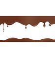 Chocolate drip vector image