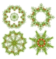Set of christmas wreaths for your design vector image