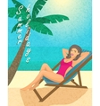 Summer holiday vector image