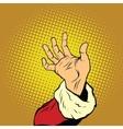 Hand of Santa Claus New year and Christmas vector image