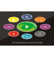 Audio Video Player buttons vector image vector image
