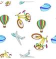 Different kind of transportation pattern vector image