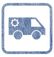 service car fabric textured icon vector image