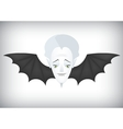 Vampire airlines regular flights on Halloween vector image