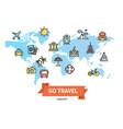 go travel concept vector image vector image