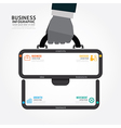infographics businessman hand hold business bag vector image