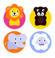 Animal buttons set vector image vector image
