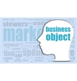 business object head profile icon woman vector image