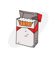 cigarette packet vector image