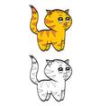 Cute cartoon baby tiger vector image