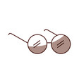 elderly glasses isolated icon vector image