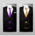 elegant apparel vertical banners vector image