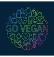 Go Vegan colorful vector image