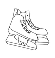 ice skaters isolated icon vector image