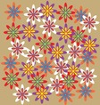 illustration of abstract floral elements vector image