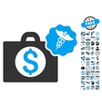 Medical Business Flat Icon With Bonus vector image