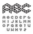 Polygonal Font Abc Alphabet vector image