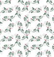 Seamless patern with flowers vector image