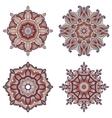 Set of four mandalas vector image