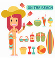 summer vacation play on the beaches vector image