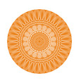 yellow mandala decoration retro texture element vector image