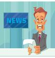 News announcer cartoon vector image