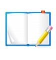 empty open book vector image vector image