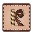 letter k candies vector image